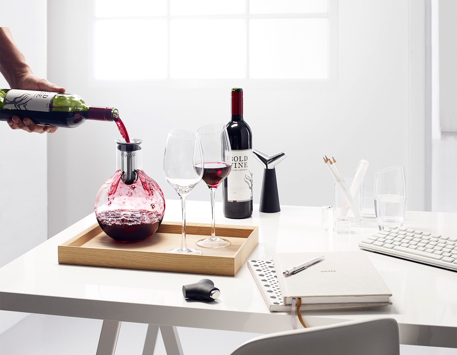 <p>Click here to find gifts where beautiful design meets the great wine experience.</p>