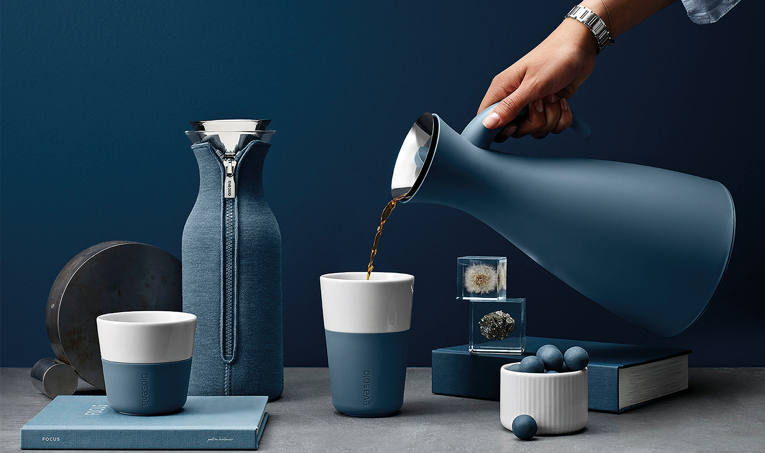 <p>Get ready for autumn and winter 'hygge' with the new Nordic and tranquil Steel blue.</p>