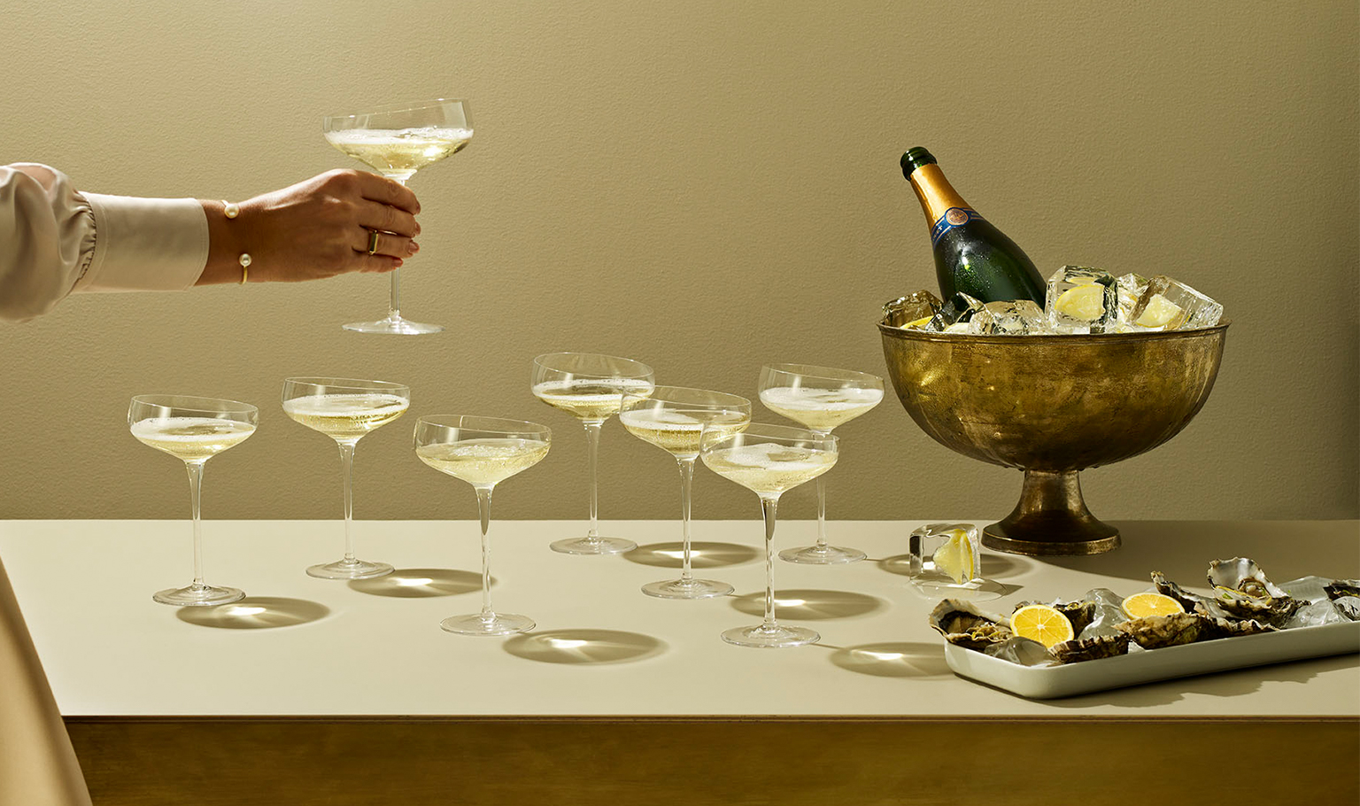 <p>Get the festivities going with the new mouth-blown Champagne Coupe glass.</p>
