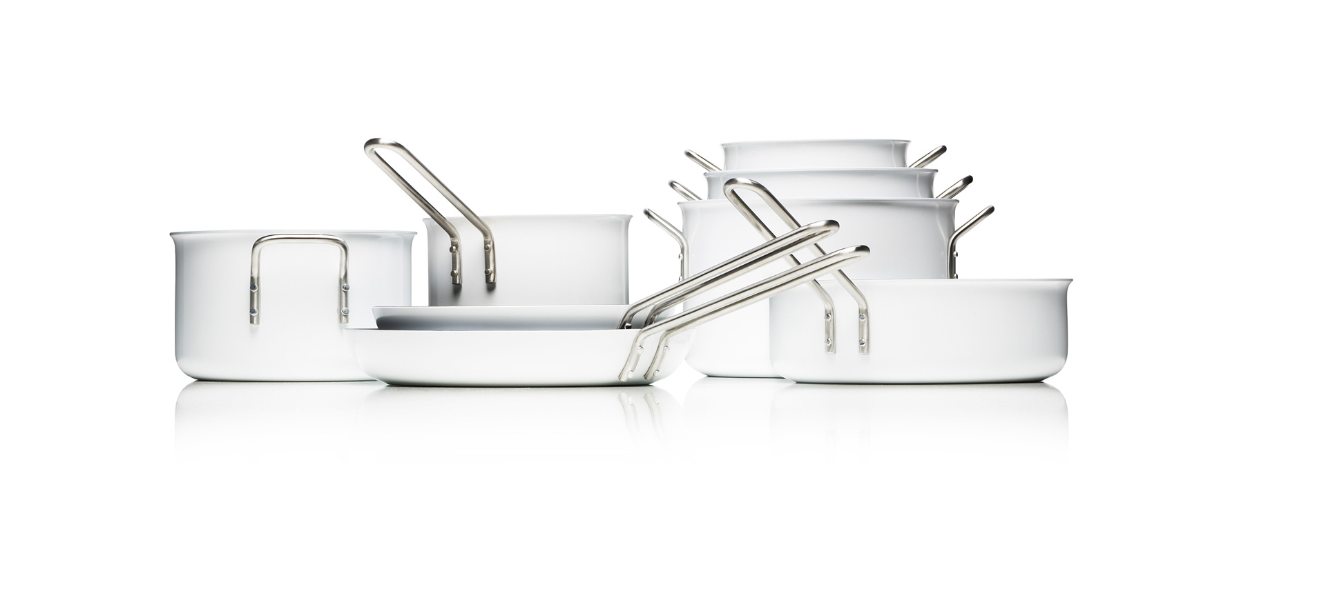 Sauté pan - White line, Ceramic coating - 256524